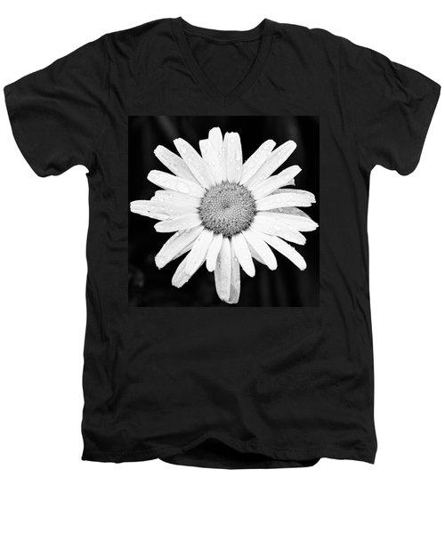 Dew Drop Daisy Men's V-Neck T-Shirt