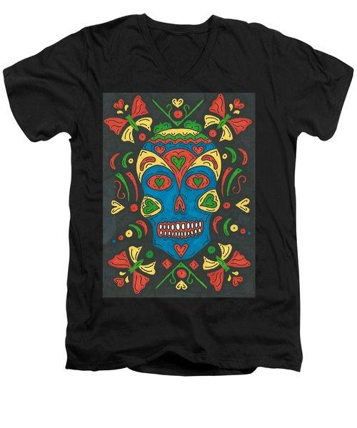 Dia De Los Muertos Men's V-Neck T-Shirt