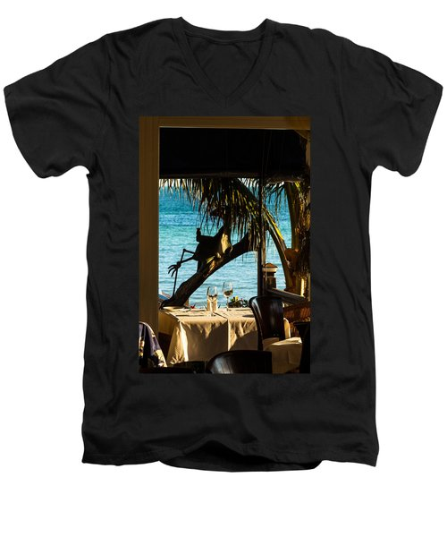 Dining For Two At Louie's Backyard Men's V-Neck T-Shirt