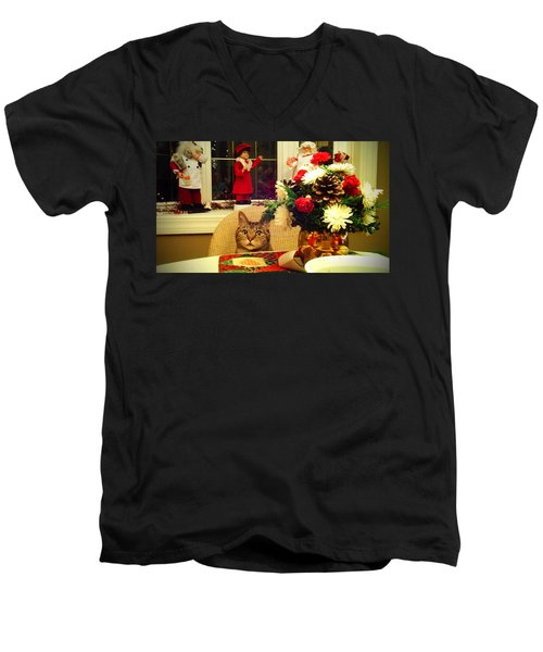 Dinner Time Men's V-Neck T-Shirt