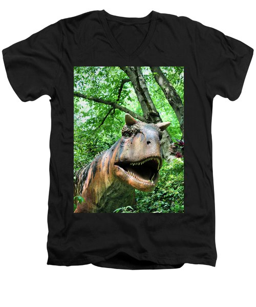 Men's V-Neck T-Shirt featuring the photograph Dinosaur by Kristin Elmquist