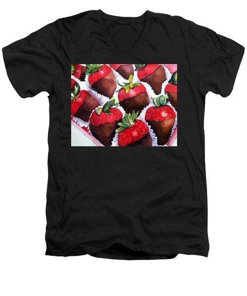 Dipped Strawberries Men's V-Neck T-Shirt