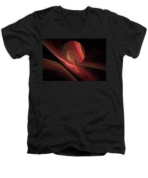 Disk Swirls Men's V-Neck T-Shirt