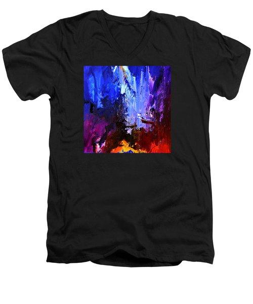 Distant Light Men's V-Neck T-Shirt by Kume Bryant