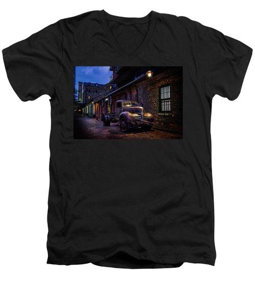 Distillery District Toronto Men's V-Neck T-Shirt