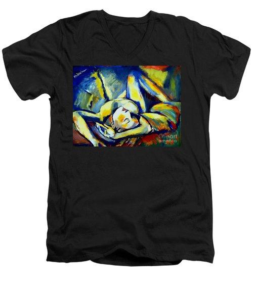 Distressful Men's V-Neck T-Shirt