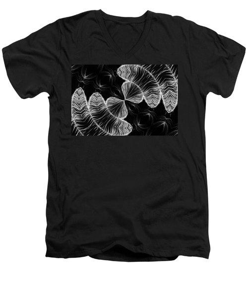 Division Men's V-Neck T-Shirt by Kristin Elmquist
