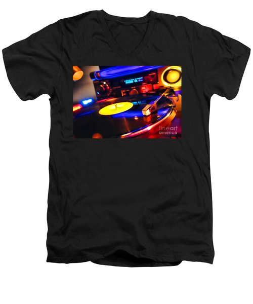 Dj 's Delight Men's V-Neck T-Shirt