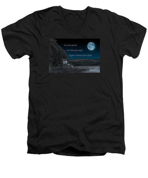 Do Not Go Gentle Men's V-Neck T-Shirt by Steve Purnell