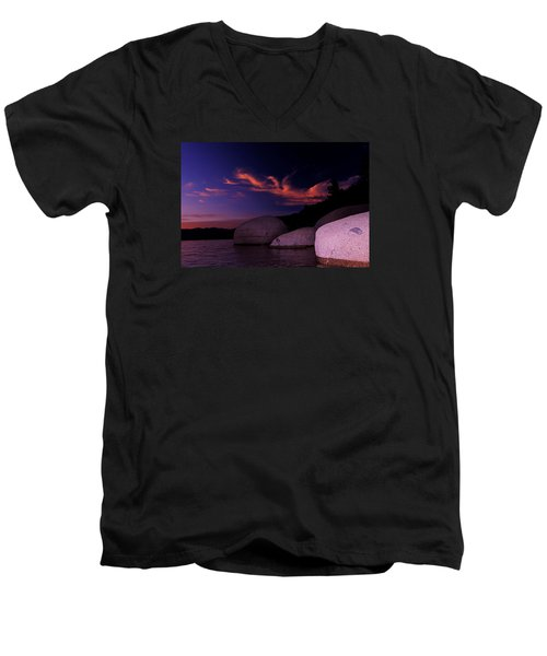 Men's V-Neck T-Shirt featuring the photograph Do You Believe In Dragons? by Sean Sarsfield