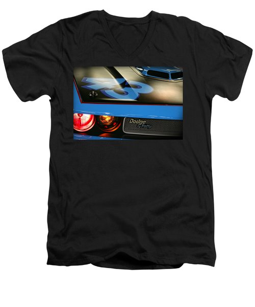 Men's V-Neck T-Shirt featuring the photograph Dodge By Petty by Gordon Dean II