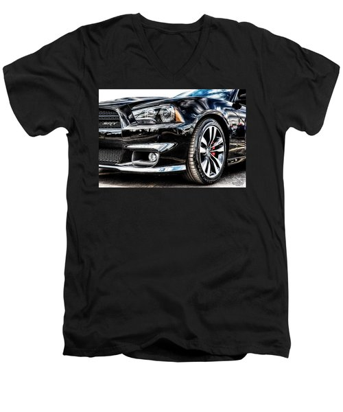 Dodge Charger Srt Men's V-Neck T-Shirt