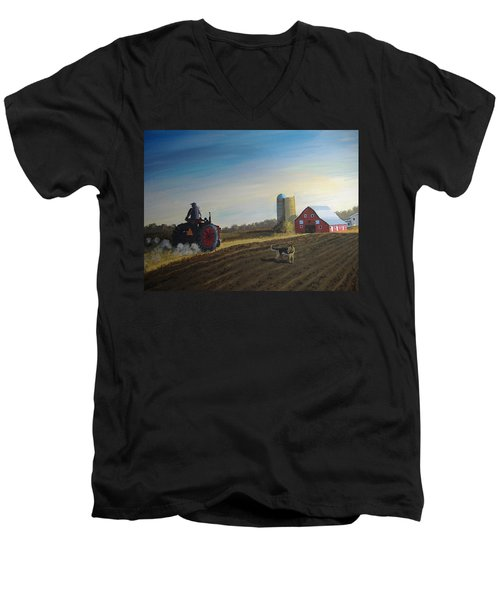 Done For The Day Men's V-Neck T-Shirt by Norm Starks