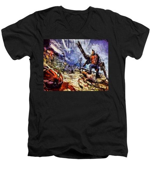 Don't Mess With The Gunserker Men's V-Neck T-Shirt