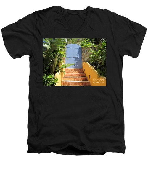 Men's V-Neck T-Shirt featuring the photograph Doorway To Paradise by Fiona Kennard