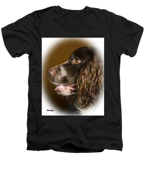 Dougie The Cocker Spaniel 2 Men's V-Neck T-Shirt