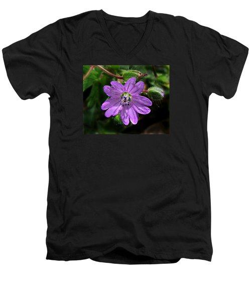 Wild Dovesfoot Cranesbill Men's V-Neck T-Shirt