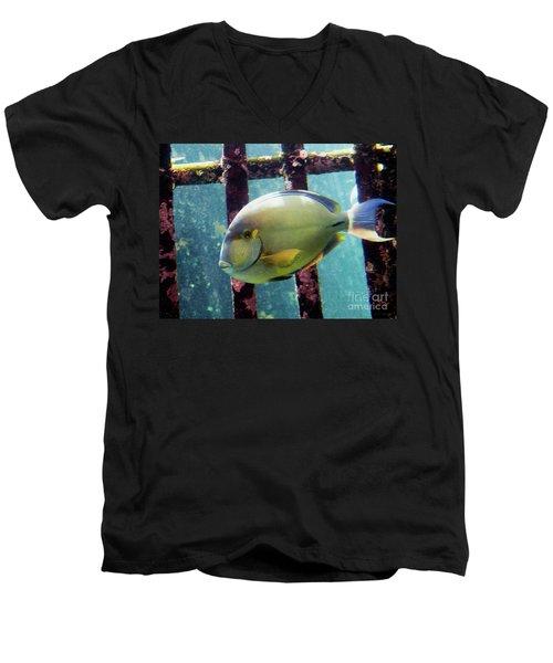 Down At The Shipwreck Men's V-Neck T-Shirt