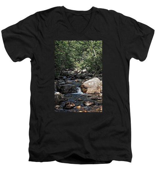 Down Stream Men's V-Neck T-Shirt