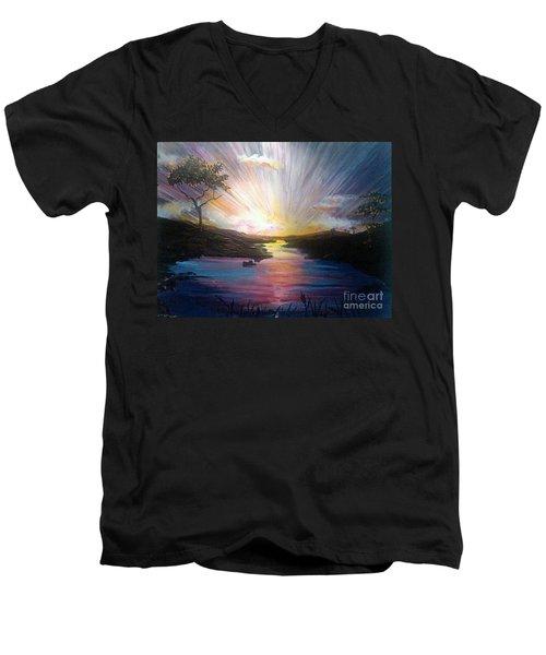 Down To The River Men's V-Neck T-Shirt