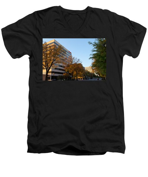 Downtown Chattanooga Men's V-Neck T-Shirt