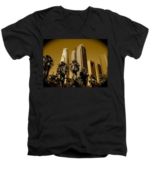 Downtown Los Angeles Men's V-Neck T-Shirt