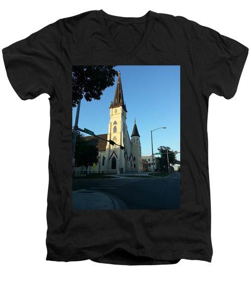 Downtown Worship Men's V-Neck T-Shirt