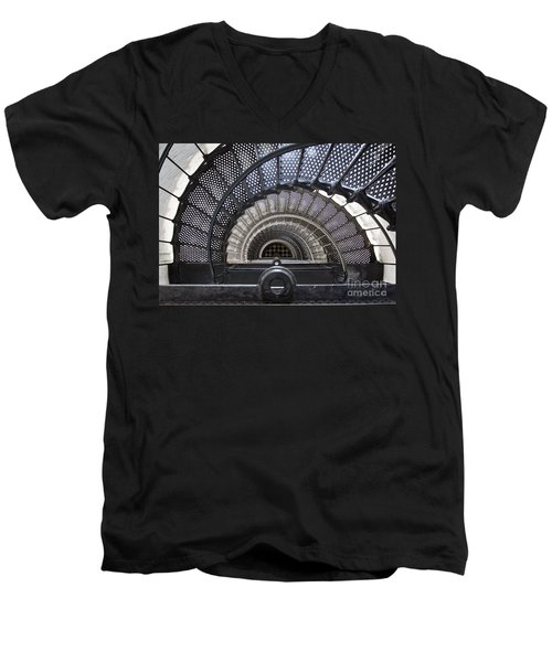 Downward Spiral Men's V-Neck T-Shirt by Douglas Stucky