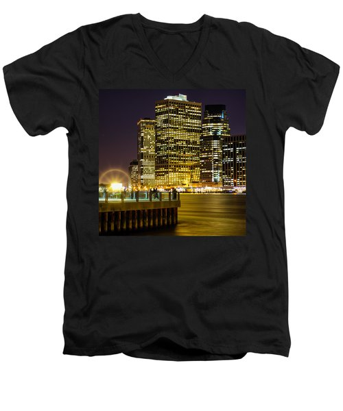 Downtown Lights Men's V-Neck T-Shirt
