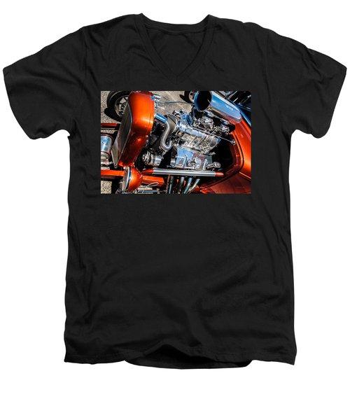Drag Queen - Hot Rod Blown Chrome  Men's V-Neck T-Shirt by Steven Milner