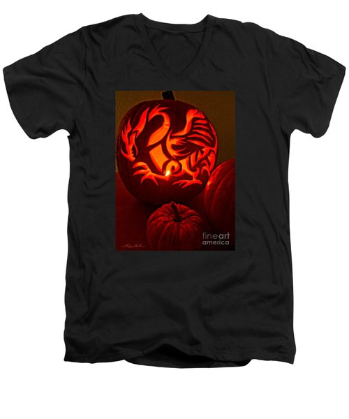Dragon Lantern Men's V-Neck T-Shirt