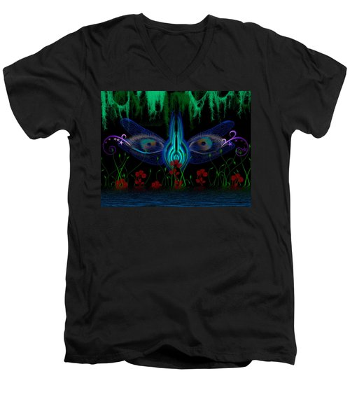 Dragonfly Eyes Series 6 Final Men's V-Neck T-Shirt