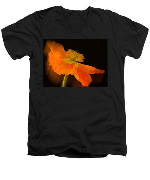Dramatic Orange Poppy Men's V-Neck T-Shirt