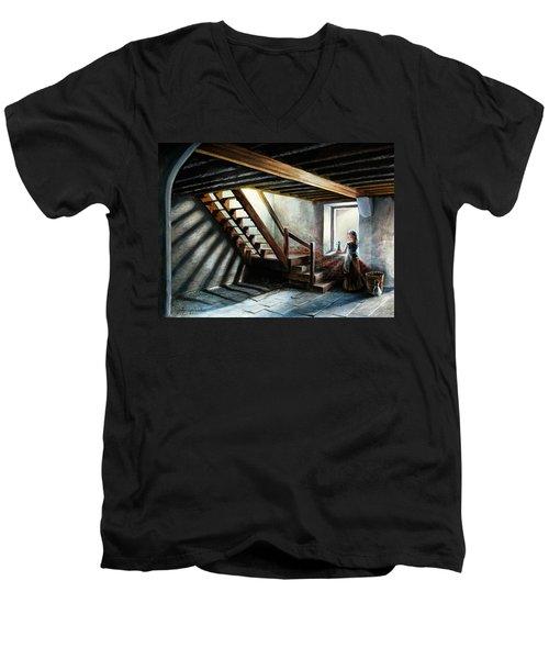 Drayton Hall- A Quiet Moment Men's V-Neck T-Shirt