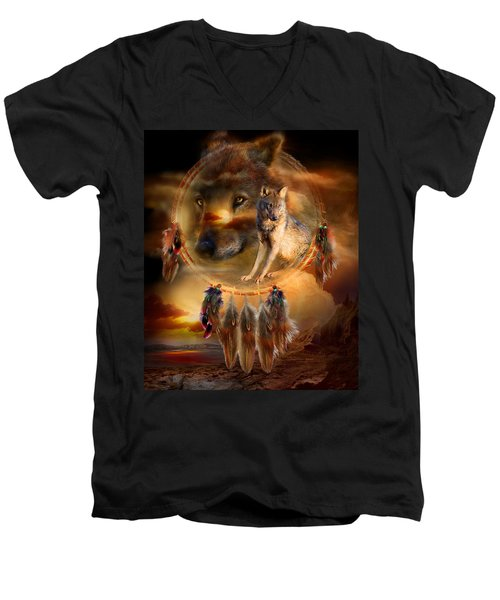 Dream Catcher - Wolfland Men's V-Neck T-Shirt