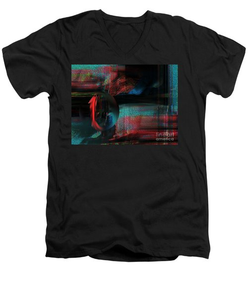 Men's V-Neck T-Shirt featuring the digital art Dream Catcher by Yul Olaivar