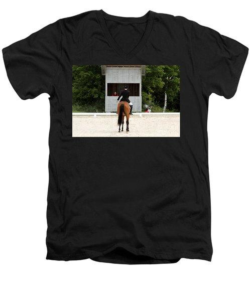 Dressage Salute Men's V-Neck T-Shirt