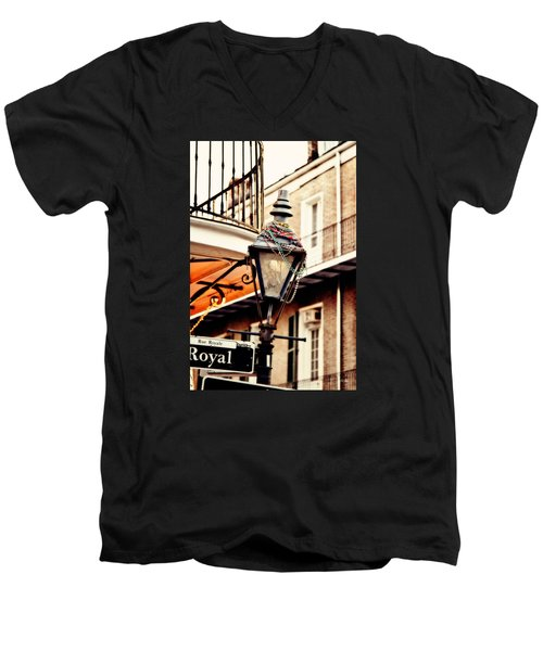Dressed For The Party Men's V-Neck T-Shirt by Scott Pellegrin