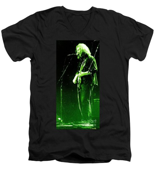 Men's V-Neck T-Shirt featuring the photograph Dressed Myself In Green  by Susan Carella