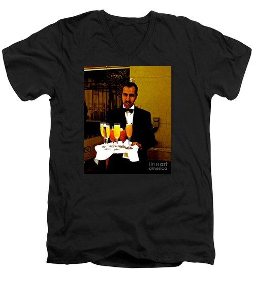Drinks Anyone? Men's V-Neck T-Shirt by Christy Gendalia