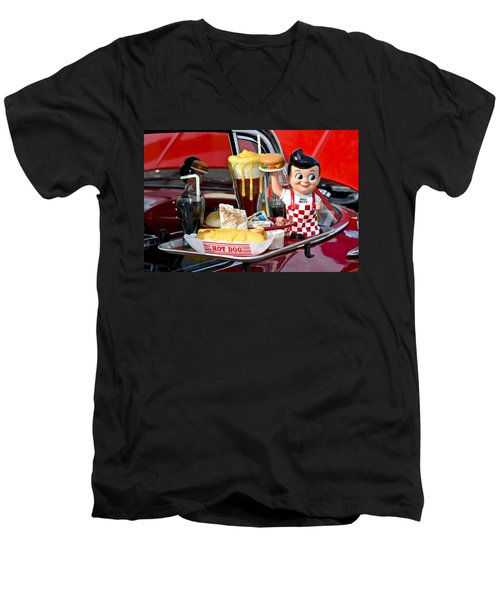 Drive-in Food Classic Men's V-Neck T-Shirt