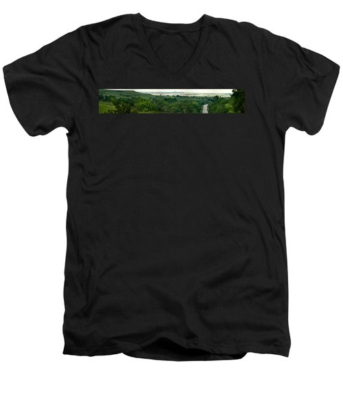 Drive The Flint Hills Men's V-Neck T-Shirt