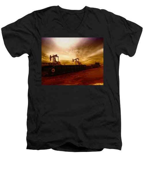 Dropping A Tank Men's V-Neck T-Shirt by Jeff Swan