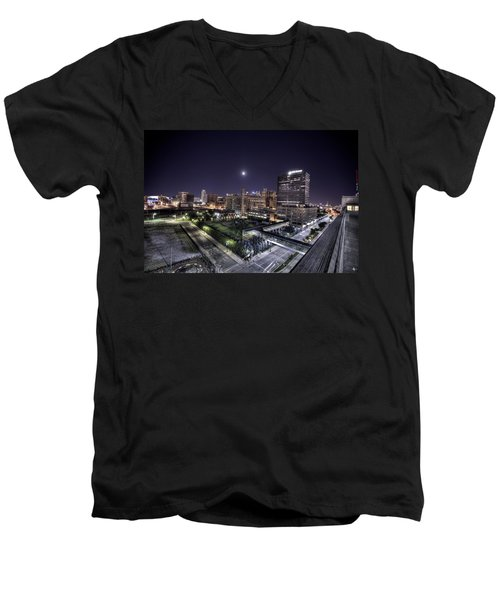Dte In Detroit Men's V-Neck T-Shirt by Nicholas  Grunas