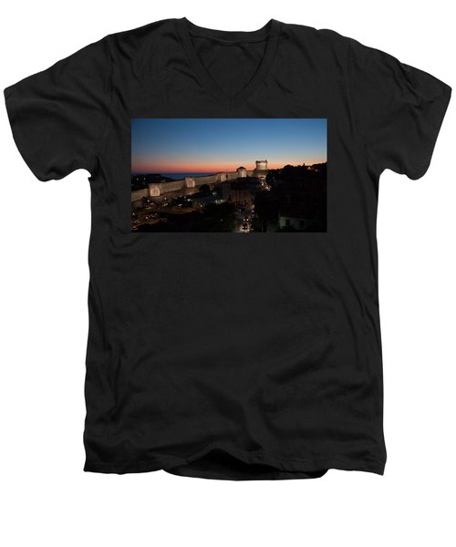 Dubrovnik Men's V-Neck T-Shirt by Silvia Bruno