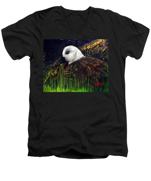 Duck At Dusk Men's V-Neck T-Shirt
