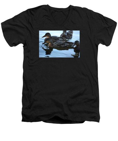 Ducks Reflecting Men's V-Neck T-Shirt