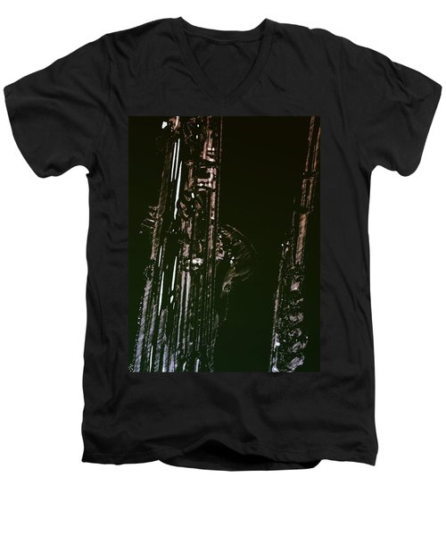 Men's V-Neck T-Shirt featuring the photograph Duet by Photographic Arts And Design Studio