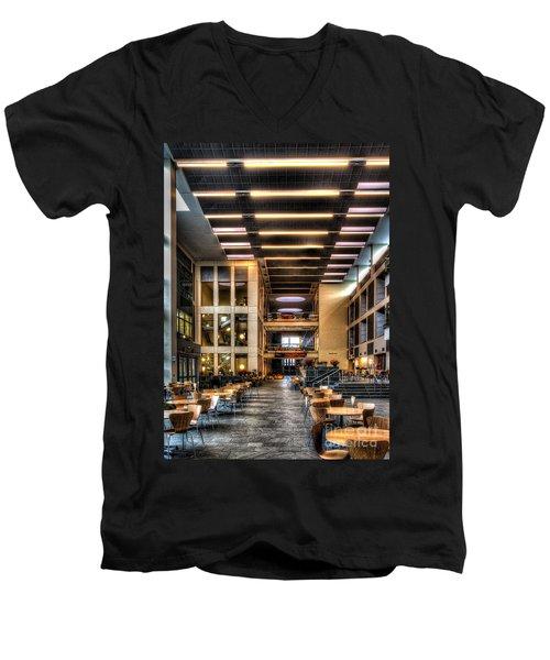 Duffield Hall Cornell University Men's V-Neck T-Shirt