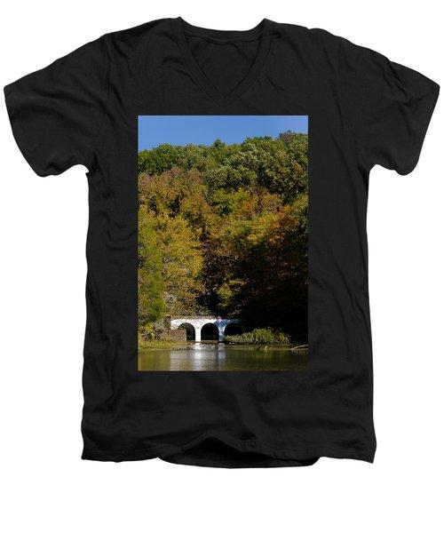 Dunbar Cave And Swan Lake Men's V-Neck T-Shirt